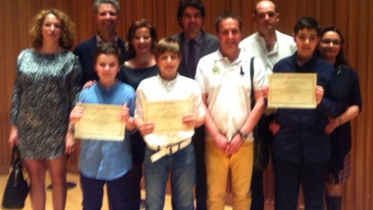 Tres alumnos del CEIP San Luis Premio Extraordinario al Rendimiento Académico