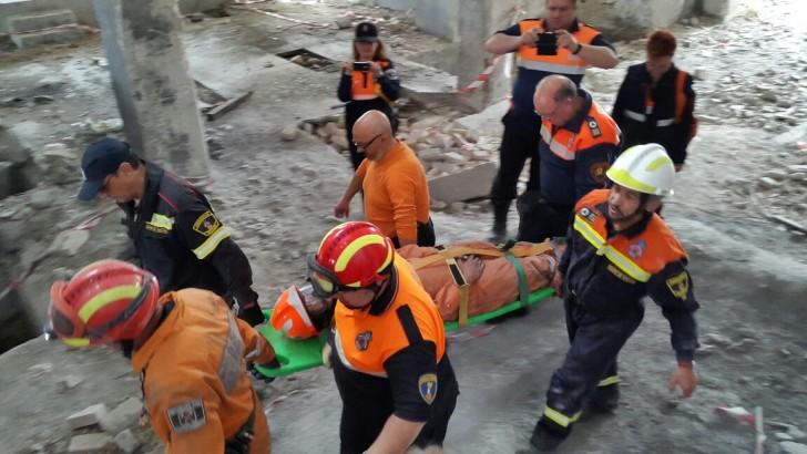 Las imágenes del simulacro de rescate en el X Aniversario de Protección Civil