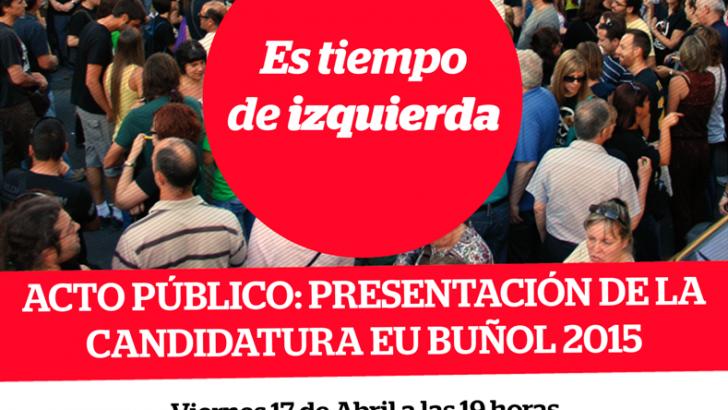 EU de Buñol presenta su candidatura este viernes