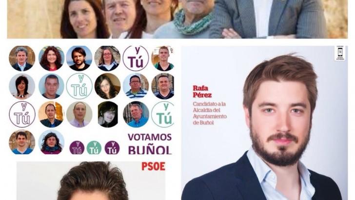 Las imágenes del comienzo de la campaña electoral en Buñol