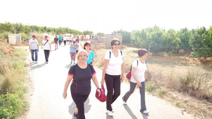 "Los grupos de Anem a Caminar de la Hoya de Buñol realizan un tramo de la ruta jacobea del ""Camino de la Lana"""