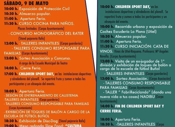 Programa de la 10ª Feria del Comercio y Turismo de Buñol