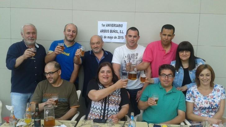 La empresa Áridos Buñol cumple su primer aniversario