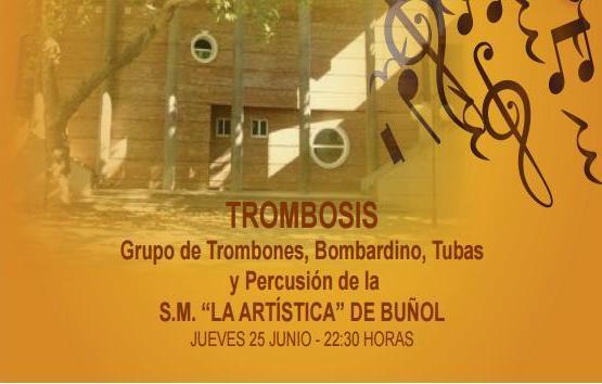"""El grupo """"Trombosis"""" de """"La Artística"""" de Buñol actuá este jueves en el Auditorio"""