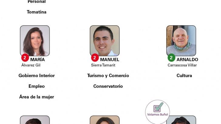 El reparto de las concejalías en el Ayuntamiento de Buñol