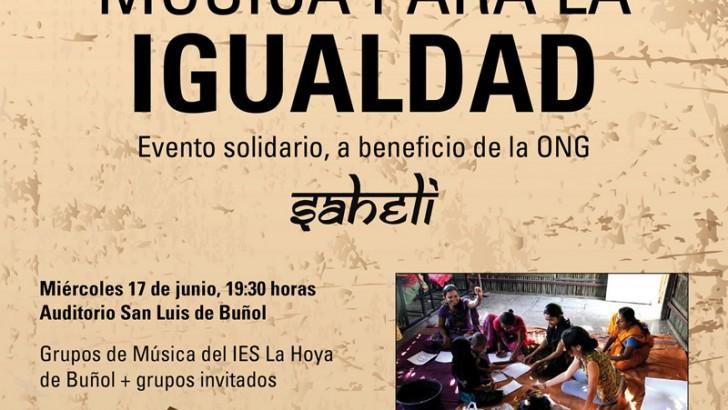 El IES Hoya de Buñol organiza el evento solidario 'Música para la igualdad'