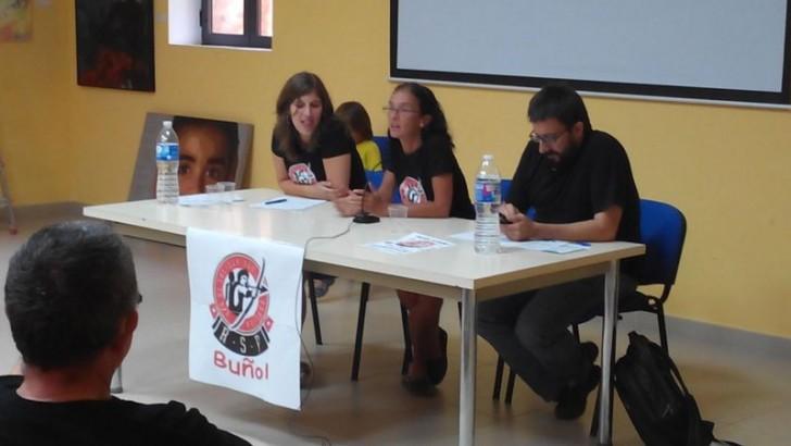 Imágenes de la presentación de la Red de Solidaridad Popular de Buñol