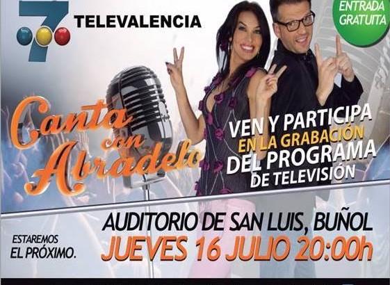 """""""Canta con Abradelo"""" grabará su programa este jueves en el Auditorio de Buñol"""