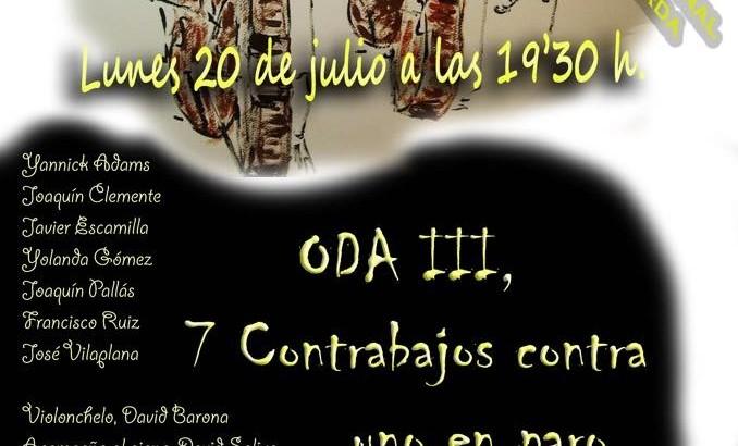"""""""Oda al Contrabajo"""" este lunes en el Teatro Montecarlo de Buñol"""