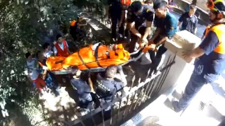 Una mujer resulta herida tras caer por el barranco en el Parque de Borrunes de Buñol