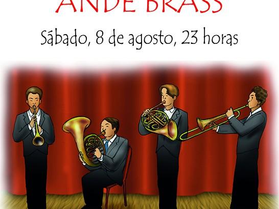 """El quinteto """"Ande Brass"""" amenizarán la noche del sábado en los Jardines de """"La Armónica"""" de Buñol"""