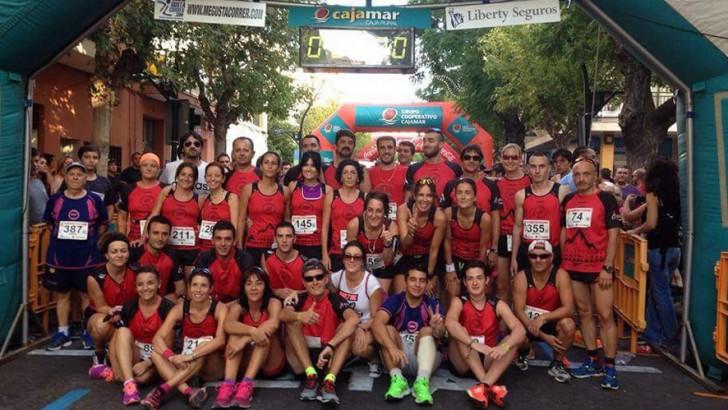 Gran participación buñolera en la Carrera Tomatina Feria y Fiestas