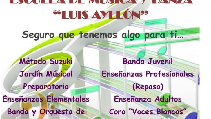 """La Escuela de música y danza """"Luis Ayllón"""" de """"La Artística"""" de Buñol presenta su oferta"""