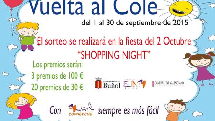 """La campaña """"Vuelta al Cole"""" de Buñol Comercial ya está en marcha"""
