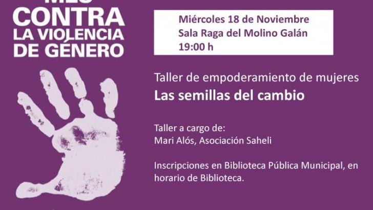 La Sala Raga de Buñol acoge esta tarde un taller sobre el empoderamiento de las mujeres