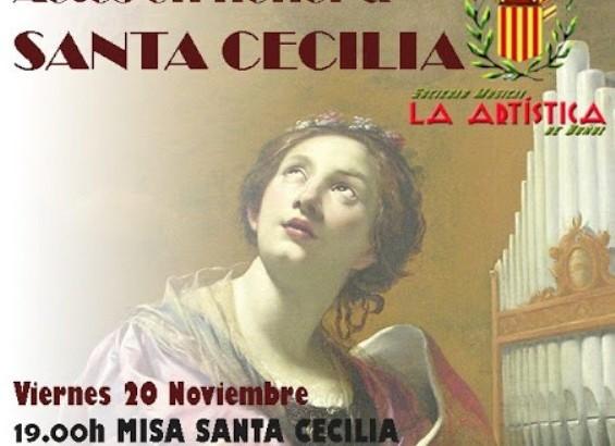 """Los actos de """"La Artística"""" de Buñol en honor a Santa Cecilia"""