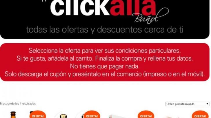 Clickalia un nuevo espacio con ofertas exclusivas del comercio de Buñol
