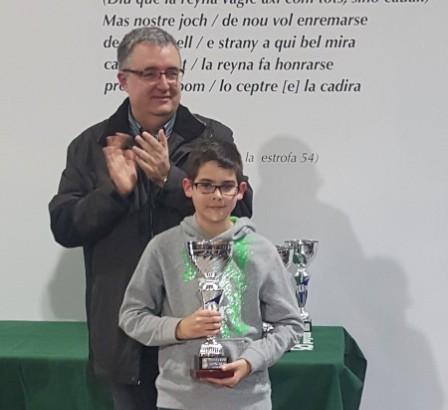 El chivano Pablo Cubells se proclama campeón Provincial de ajedrez