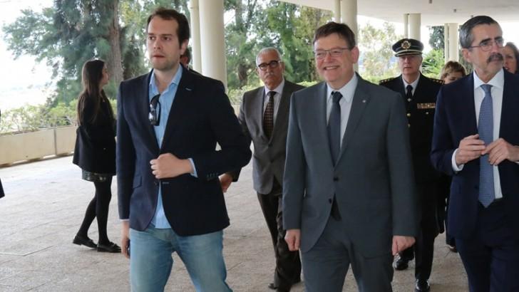 José Morell acompaña a Ximo Puig en el aniversario del IVASPE de Cheste