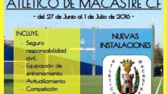 El Atlético Macastre organiza el I Campus de Fútbol