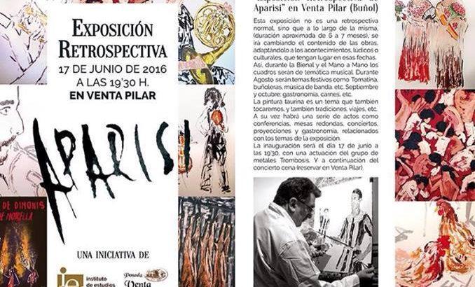 Presentación de la exposición de Juan Manuel Aparisi en la Bienal de Música de Buñol