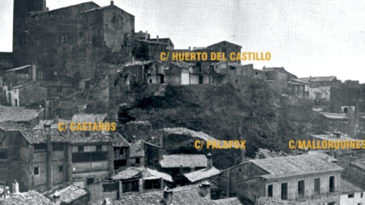 El derrumbamiento de la parte baja del Castillo sobre la calle Palafox