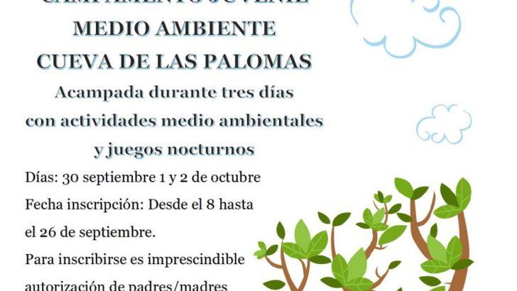 Yátova celebra un campamento juvenil medioambiental en la Cueva de las Palomas