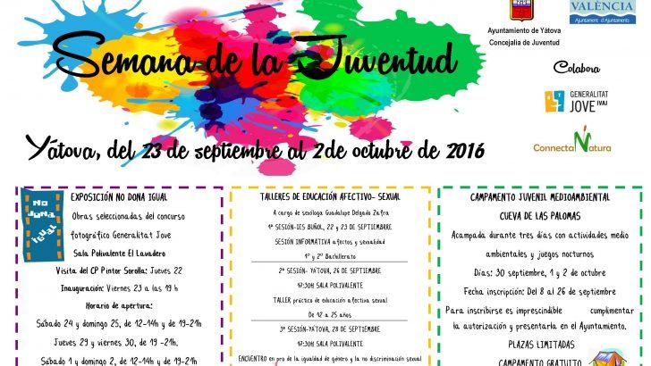 El programa de actos de la Semana de la Juventud de Yátova