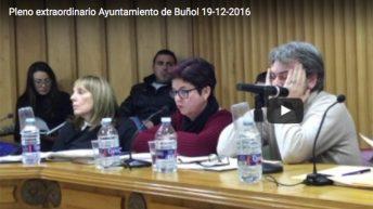 Vídeo del pleno extraordinario del Ayuntamiento de Buñol (19-12-16)
