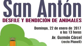"""Buñol celebra este domingo el desfile y bendición de animales de """"San Antón"""""""