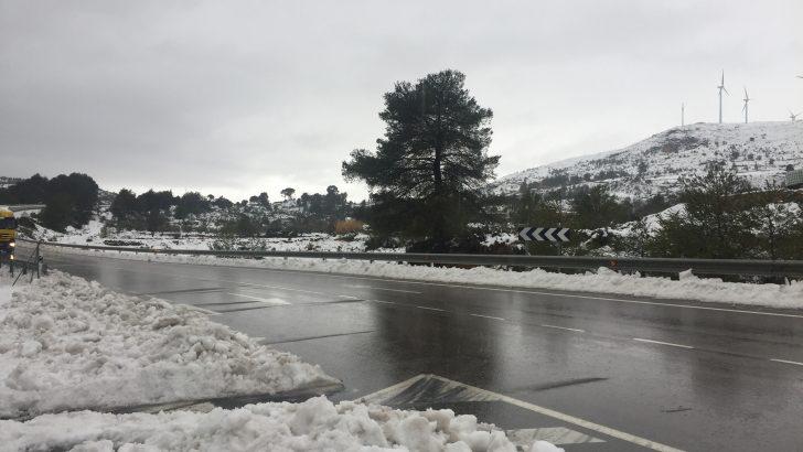 La llegada de un nuevo frente podría dejar nieve mañana en Buñol y comarca