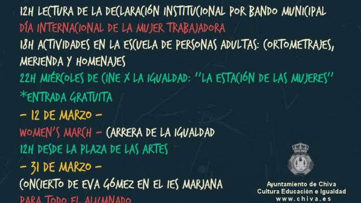 Chiva celebra el Día de la Mujer con una amplia programación