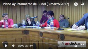 Vídeo del Pleno del Ayuntamiento de Buñol (3-3-2017)