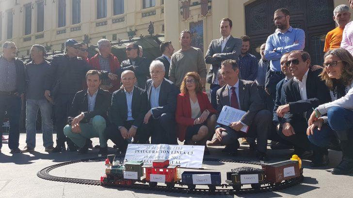 Chiva apoya la reivindicación de más inversiones en la línea de Cercanías C3