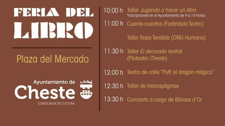 """Cheste celebra este sábado la """"Feria del Libro"""""""