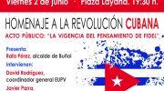 EU y el PC homenajearán a la Revolución cubana y a Fidel Castro en Buñol