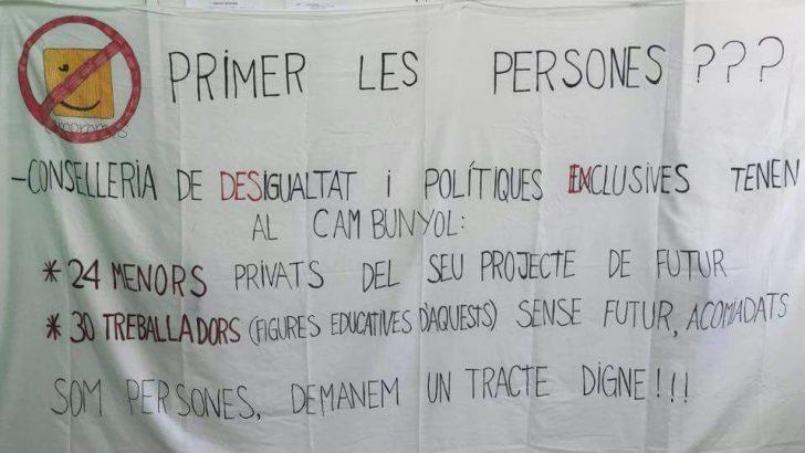 """Los trabajadores del Centro de Menores de Buñol """"se quedarán en la calle"""" el próximo 1 de julio"""