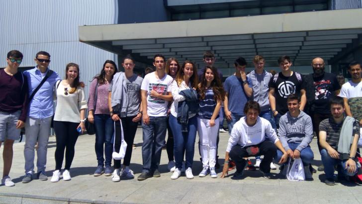 """Las imágenes de la visita de los alumnos del Conservatorio de Buñol al Conservatorio """"Joaquín Rodrigo"""""""