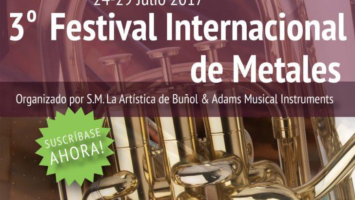 """Sigue abierta la inscripción para el III Festival Internacional de Metales organizado por """"La Artística"""" de Buñol"""