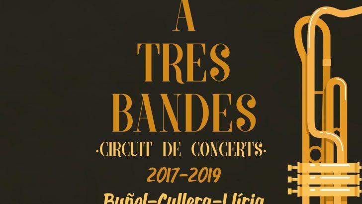 """""""La Artística""""de Buñol prepara el concierto """"A tres bandes"""" de este sábado en Cullera"""