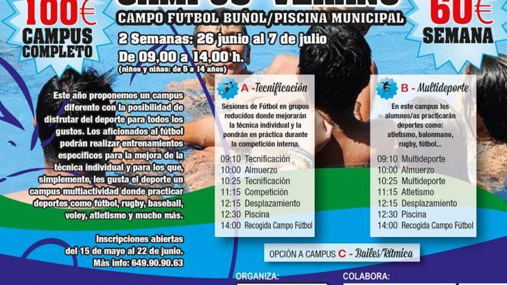 Siguen abiertas las inscripciones para el Campus de Verano de Buñol