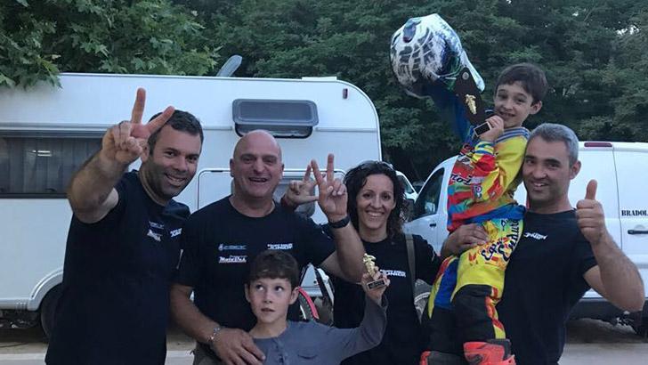 Vicente Galarza subcampeón de España en Enduro infantil 50cc.