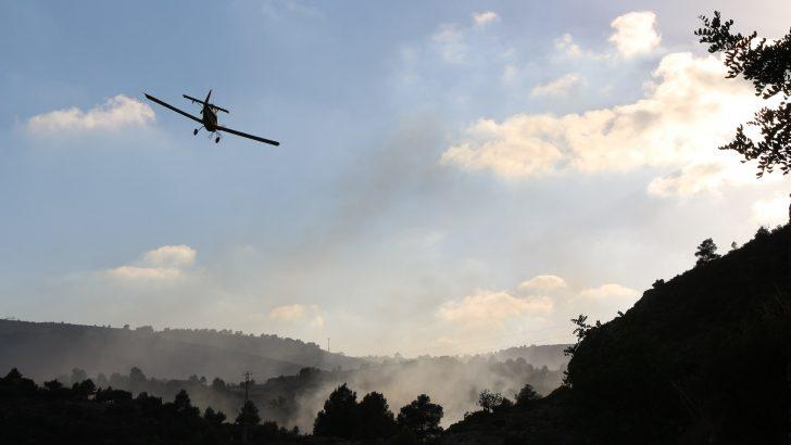 """Las imágenes del incendio que afectó al paraje de """"La Jarra"""" en Buñol"""