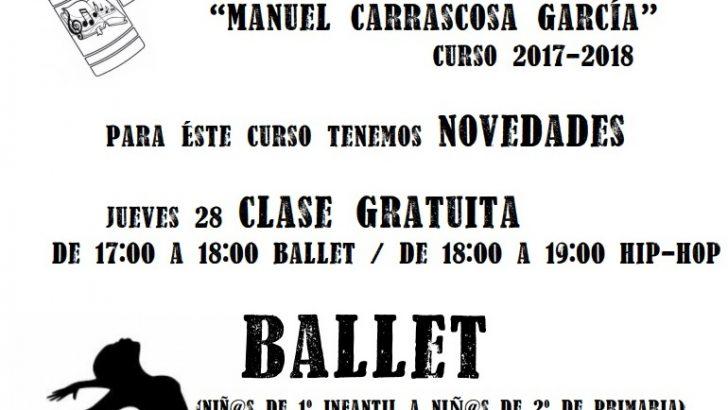 """La Escuela de Música y Danza """"Manuel Carrascosa"""" de """"La Armónica"""" de Buñol presenta sus novedades"""