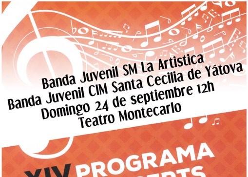 """Las bandas juveniles de """"La Artística"""" de Buñol y """"Santa Cecilia"""" de Yátova realizan un concierto de intercambio"""