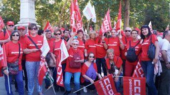CCOO de La Hoya de Buñol reclama en Madrid pensiones dignas