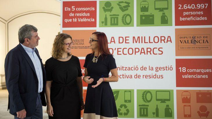 La Diputación invertirá 224.000 euros en el Consorcio Valencia Interior para la modernización del sistema de recogida y gestión selectiva de residuos