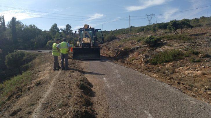 La Diputació invierte 600.000 euros en la carretera entre Buñol y el Collado Umán que llevaba años abandonada