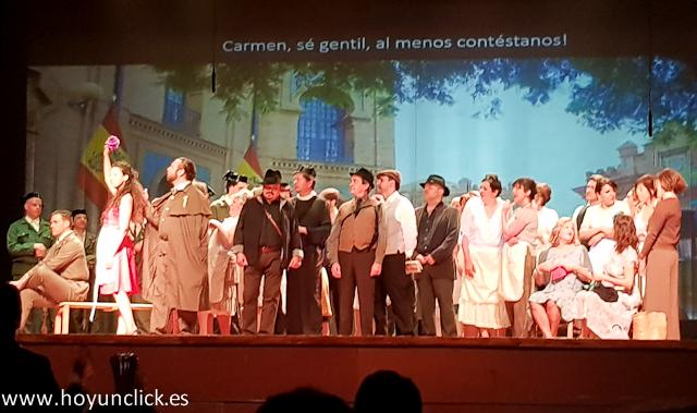Las imágenes de la ópera Carmen en el Teatro Montecarlo de Buñol