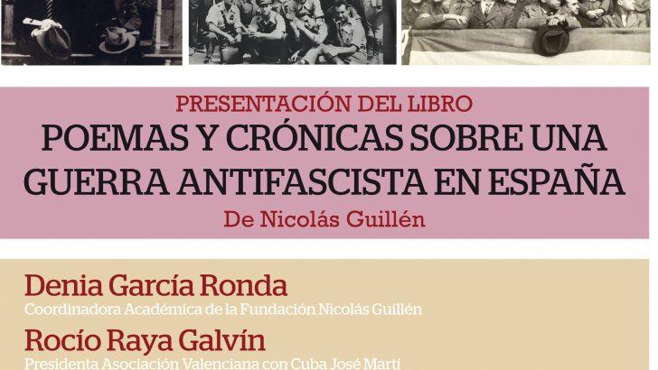 """Buñol acoge la presentación del libro """"España: Poemas y crónicas sobre una guerra antifascista"""""""